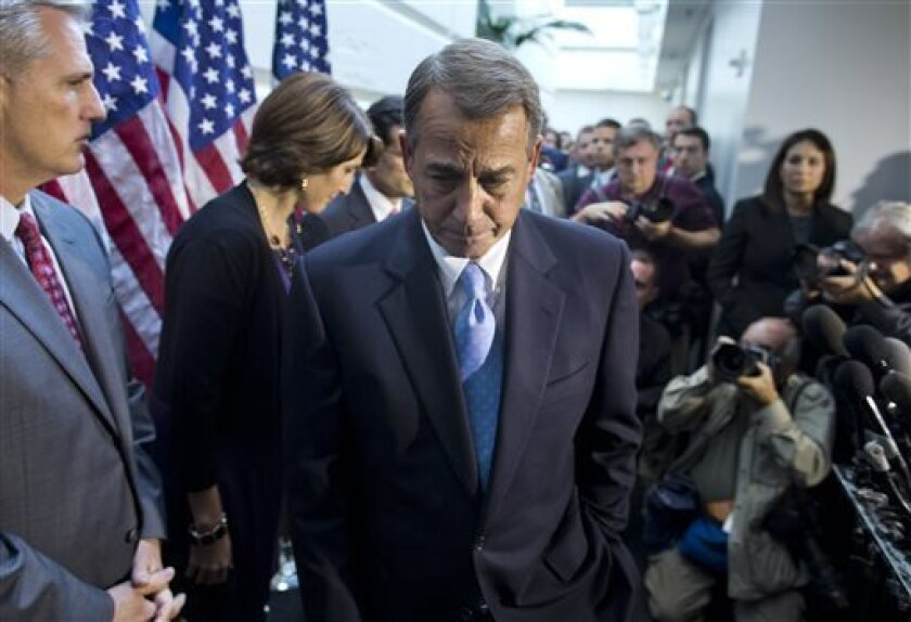 Government shutdown: Boehner's effort collapses in House