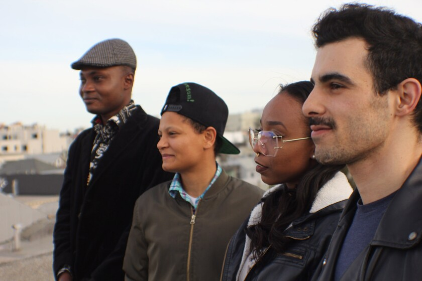 """Junior, left, Mari, Cheyenne and Subhi, the cast of the documentary """"Unsettled."""""""