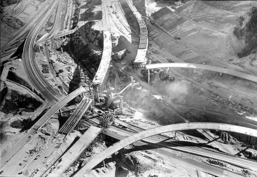 Collapsed overpasses resulting from Tuesday's earthquake