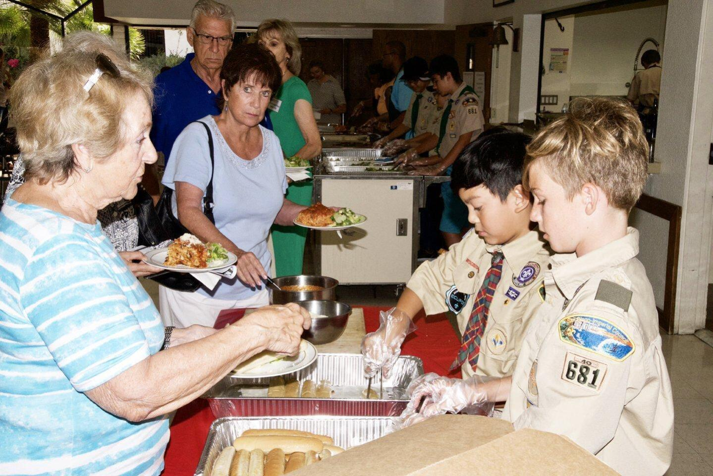San Rafael Catholic Church's lasagna dinner - 7/28/2018