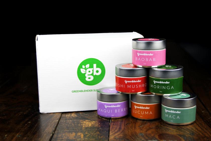 GreenBlender Superfoods gift set.