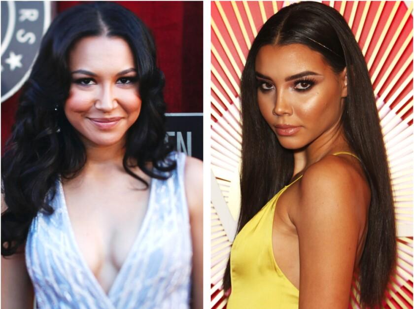 """Glee"" actress Naya Rivera, left, and her sister Nickayla Rivera."