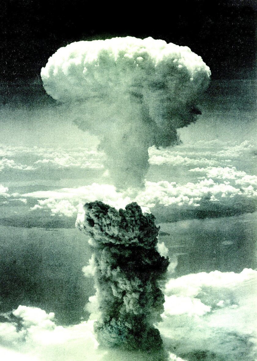 The bomb: An atomic blast devastates Nagasaki on Aug. 9, 1945.