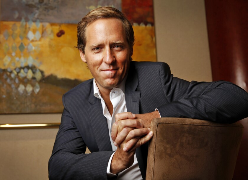 Actor, comedian and Academy Award-winning screenwriter Nat Faxon at the Beverly Hilton Hotel in Beverly Hills.