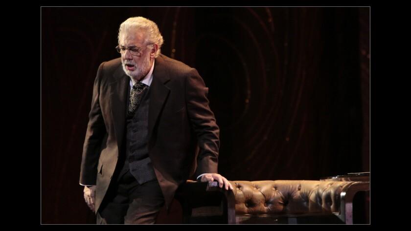 LOS ANGELES, CA. SEP. 11, 2014. Placido Domingo as Giorgio in the dress rehearsal of LA Opera's new