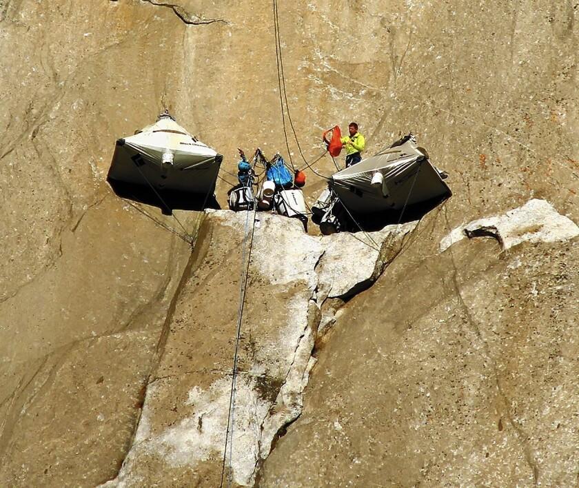 Free-climbers on El Capitan's Dawn Wall