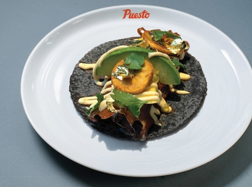 Puesto's April Taco of the Month was inspired by Padres player Manny Machado.