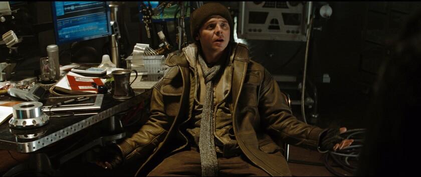 """Simon Pegg in a scene from """"Star Trek."""""""