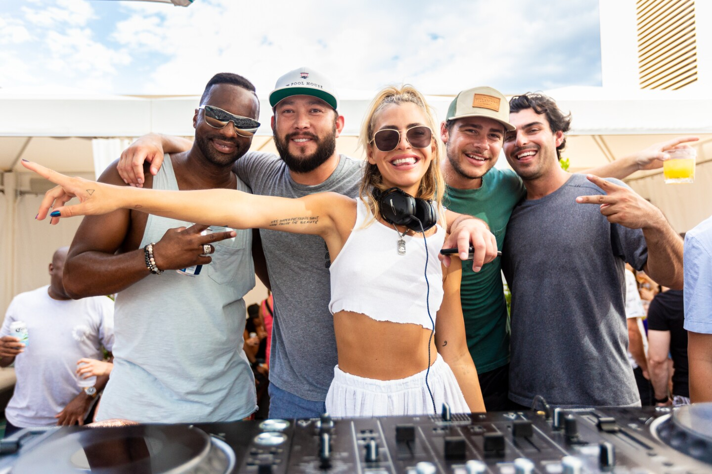 DJ Sam Blacky showed her hometown some love during a set at The Pool House on Sunday, Sept. 1, 2019.
