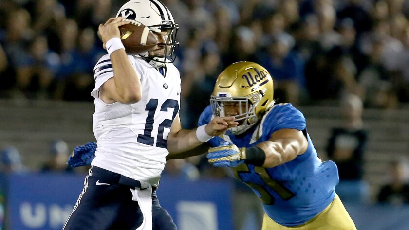 UCLA linebacker Aaron Wallace grows as a player and leader
