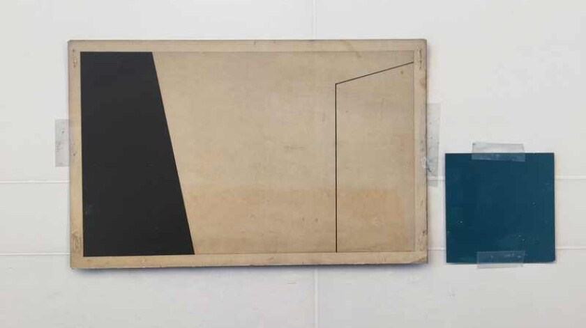 "Detail of Gary Edward Blum's ""Erased Form."""