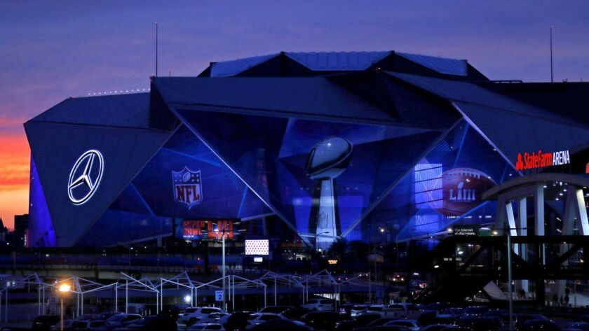 Atlanta's Mercedes-Benz Stadium will host Super Bowl LIII between the Rams and the New England Patriots.