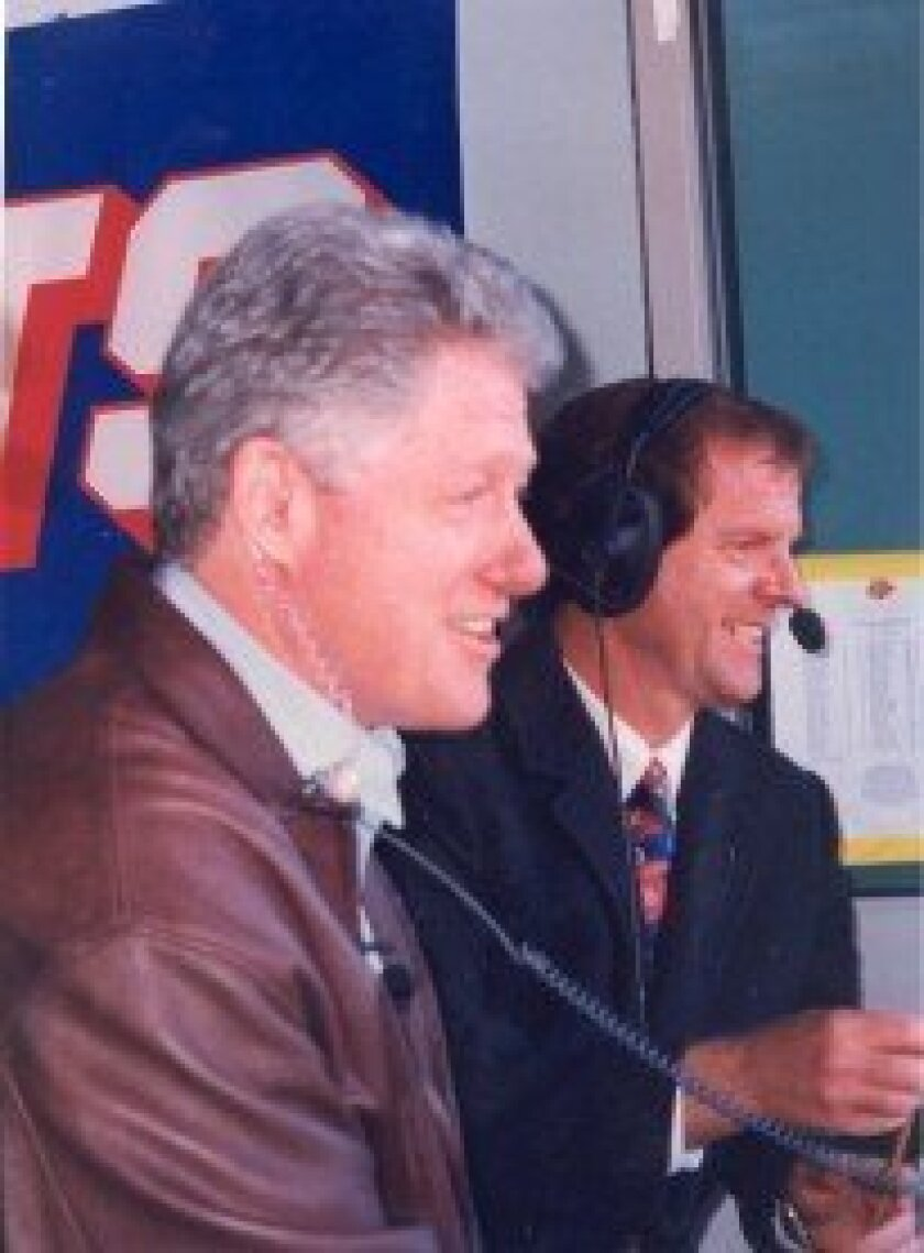Mel Proctor with President Clinton in 1996