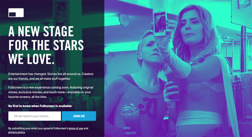 Fullscreen announces new platform featuring content from Grace Helbig and Hannah Hart.