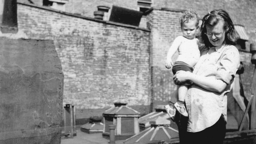 Shirley Jackson, who wrote 'The Lottery,' may be one of the most unfairly disregarded writers of her generation. She's shown with her son Laurence circa 1944.