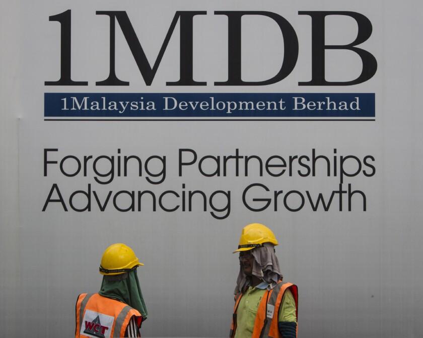Billboard for state investment fund 1 Malaysia Development Berhad (1MDB)