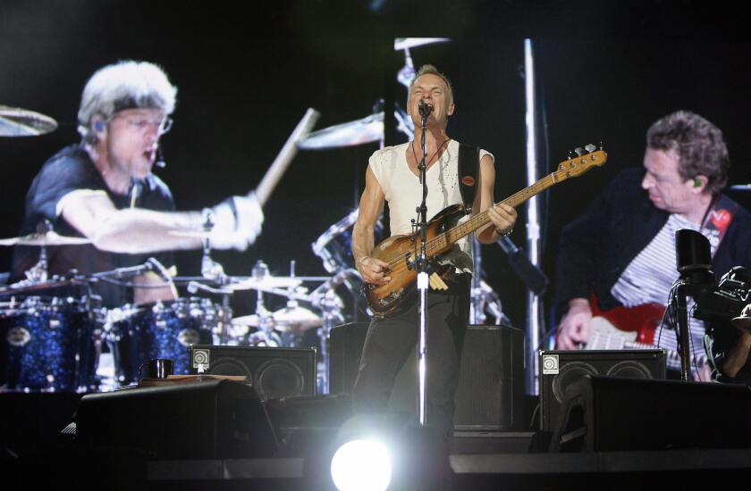 Sting (center), Stewart Copeland and Andy Summers of The Police