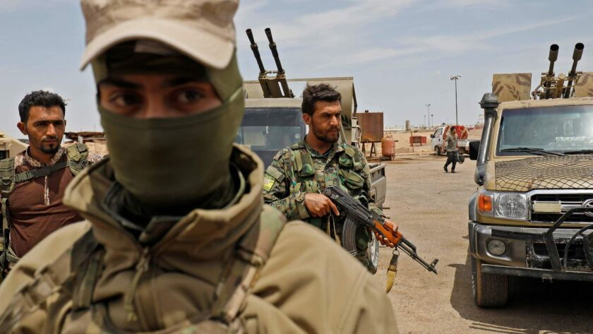 Members of the Syrian Democratic Forces