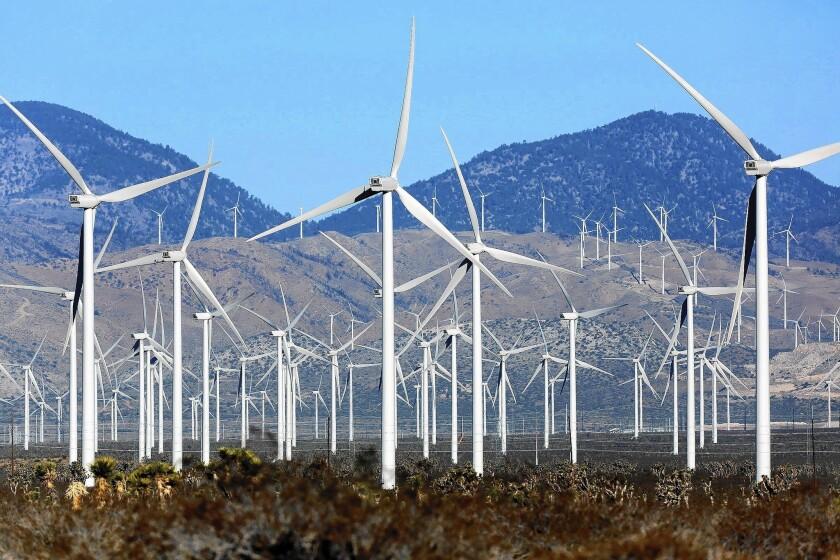 Wind turbines near Mojave, California