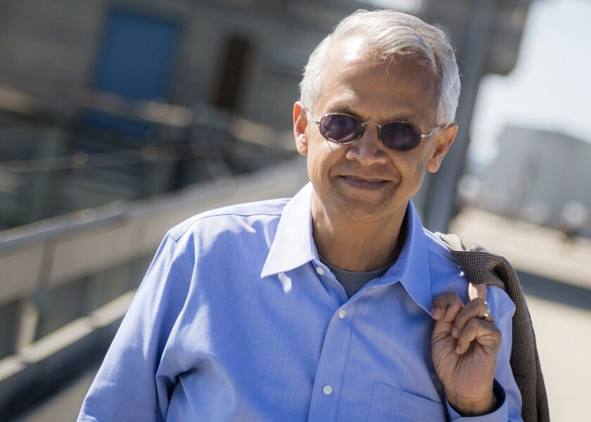 Veerabhadran Ramanathan is a professor of oceanography at the Scripps Institution at UC San Diego and a member of the Pontifical Academy of Sciences at the Vatican.