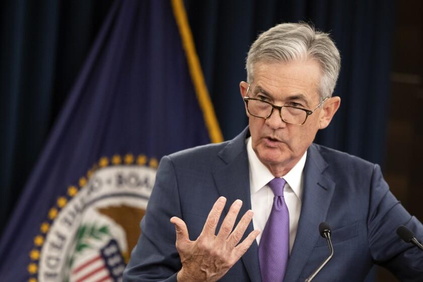 El titular de la Reserva Federal de EEUU Jerome Powell en Washington el 31 de julio del 2019.