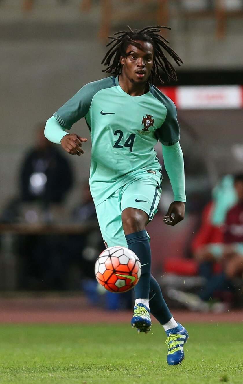 FILE - In this Tuesday, March 29 2016 file photo, Portugal's Renato Sanches kicks the ball during a friendly soccer match between Portugal and Belgium in Leiria, Portugal. Many nations are betting on youth at the European Championship, giving promising youngsters a chance to breakthrough in France.