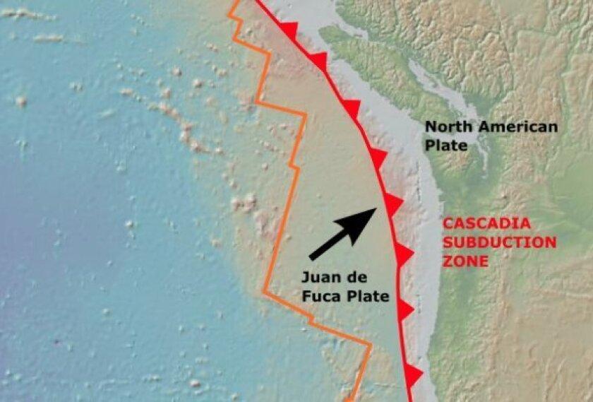 Cascadia subduction zone.