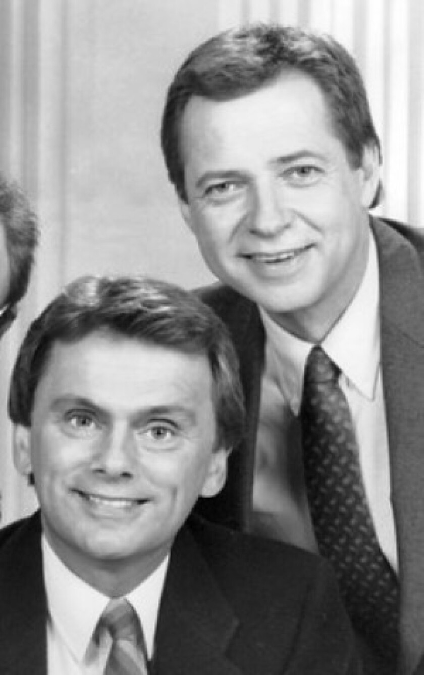 Dan Miller, right, was Pat Sajak's sidekick on a short-lived late-night talk show.