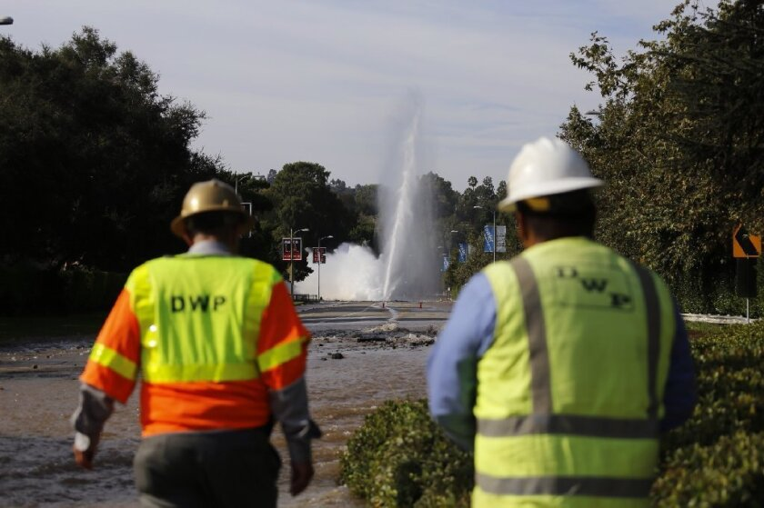 Water main rupture