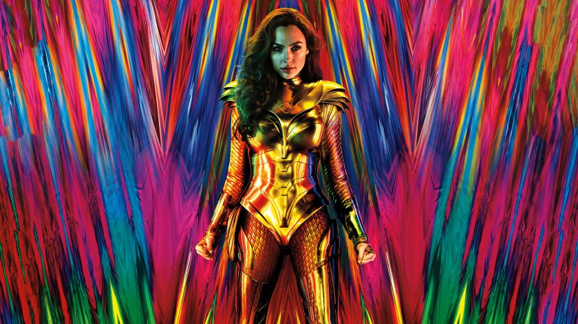 Gal Gadot as Wonder Woman in her gold armor