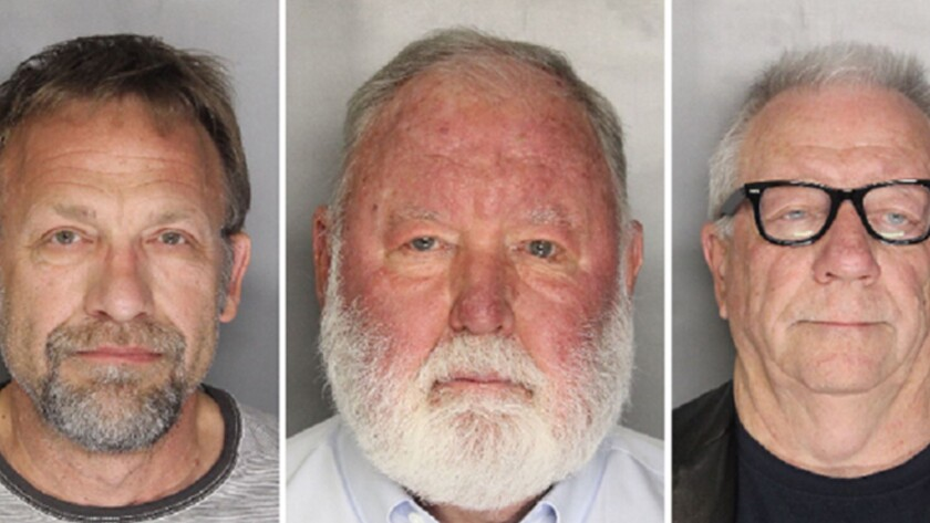 Carl Ferrer, left, James Larkin and Michael Lacey were charged in a pimping case in connection with international classified ad website Backpage.com. A judge has rejected those charges.