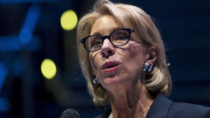 "Education Secretary Betsy DeVos said the accrediting group has made ""significant improvements"" and its problems weren't severe enough to suspend recognition."