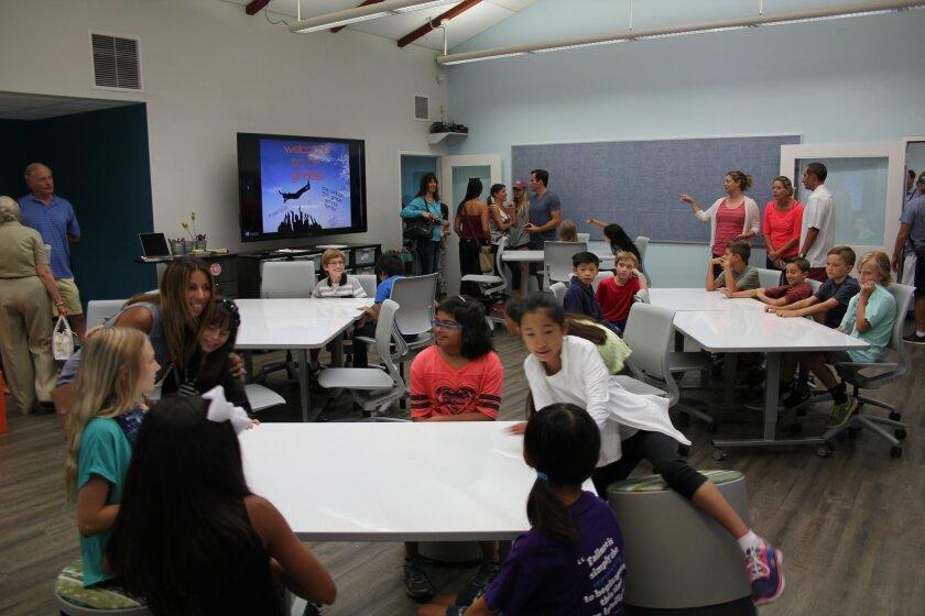 A Carmel Del Mar modern learning studio. Photo by Karen Billing