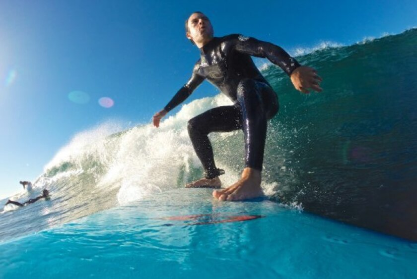 Brian Witkin used his GoPro to take this selfie on Sunday morning in Encinitas.