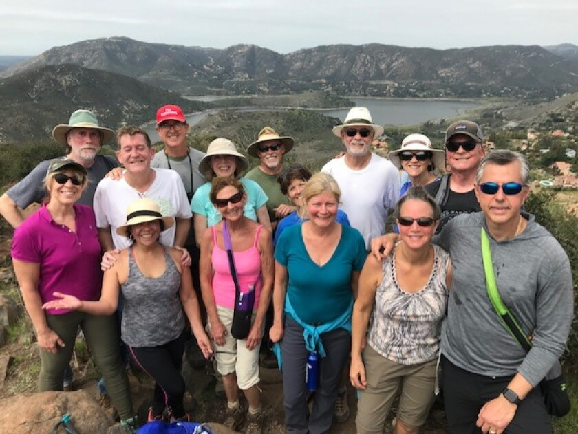 The San Dieguito River Valley Conservancy holds its third Coast to Crest Trail Challenge for hikers and bikers to explore San Dieguito River Valley's most iconic spots along the Coast to Crest Trail. Participants have until June 30, 2020 to complete five hikes on seven trails: Santa Ysabel West Preserve Trail, Coast to Crest Trail at Pamo Valley, Highland Valley Trail, Del Dios Highlands Preserve and Elfin Forest Recreational Reserve Trails, Coast to Crest Trail at North Shore Lake Hodges and Lake View trail. The Conservancy will also be leading guided hikes from Sept. 28 to April 18, 2020. The trails vary from easy to strenuous and are from 4.2 to 7.42 miles round trip. Pictured are participants in the Coast to Crest Trail Challenge. Register at sdrvc.org/sdrvc-2019-2020-coast-to-crest-trail-challenge.