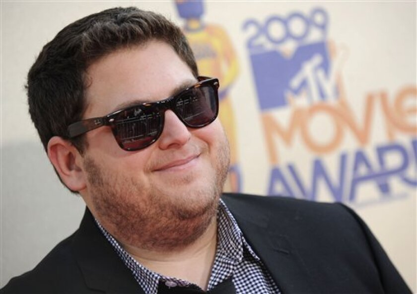 Jonah Hill arrives at the MTV Movie Awards on Sunday May 31, 2009, in Universal City, Calif. (AP Photo/Chris Pizzello)