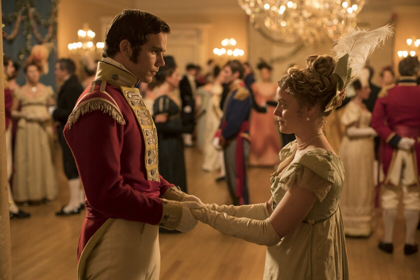 """Jeremy Neumark Jones, left, and Emily Reid are young people in love on the eve of war in the Epix miniseries """"Belgravia."""""""