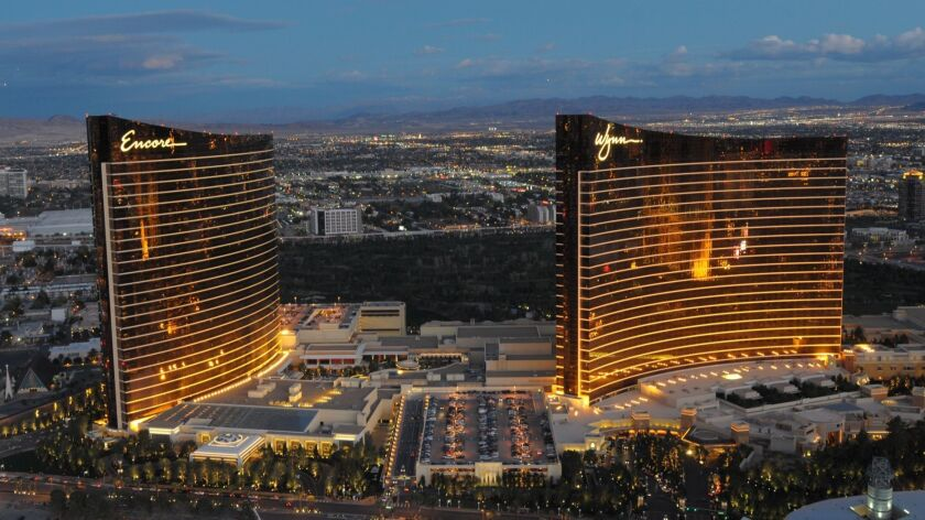 This photo provided by the Las Vegas News Bureau shows Steve Wynn's newest casino/hotel Encore on Mo