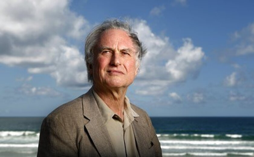 Richard Dawkins was in San Diego to receive the Nierenberg Prize for science in the public interest from Scripps Institution. (K.C. Alfred / Union-Tribune)