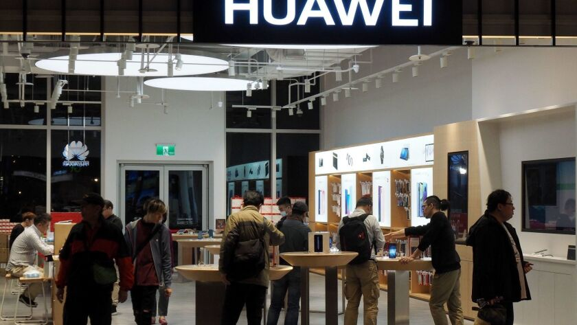 Taiwan government agencies ban use of Huawei products out of security concern, Taipei - 18 Jan 2019