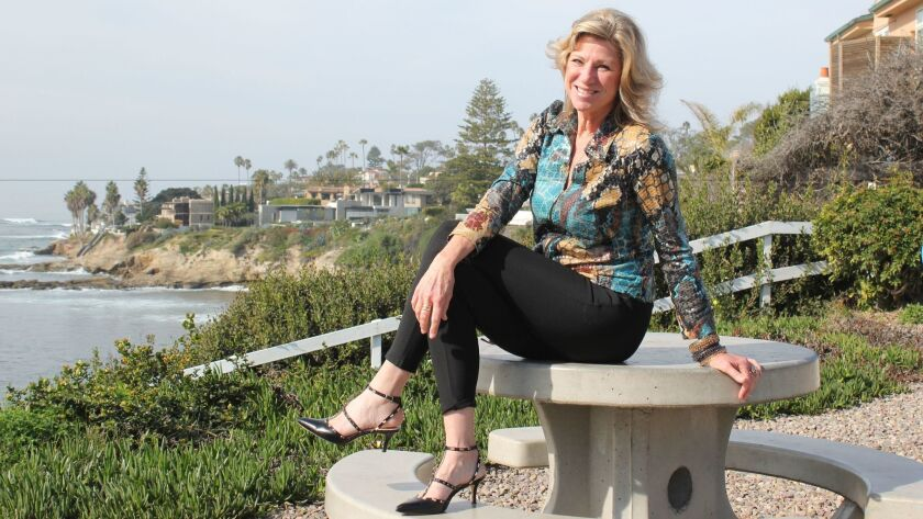La Jolla resident Kristi Pieper at one of her favorite lookouts in Bird Rock.