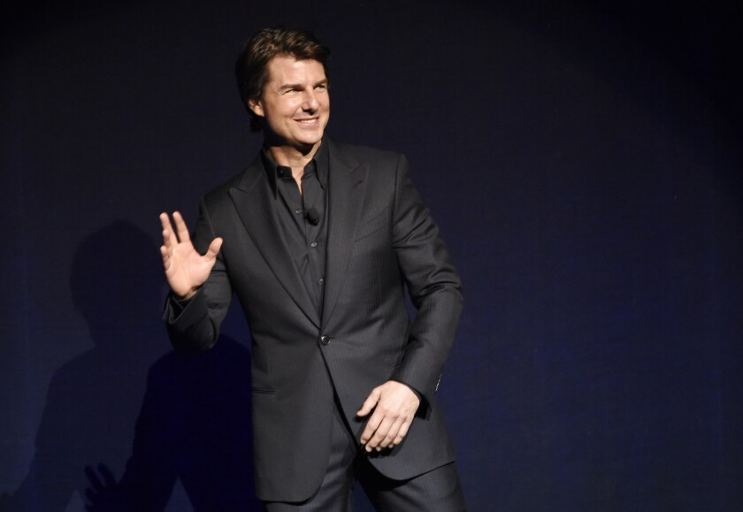 Tom Cruise at the 2015 CinemaCon.