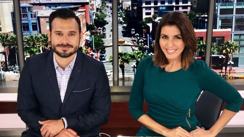 Telemundo 20 will begin operation July 1. Its main anchors will be (Left to Right) Guadalupe Venegas and Lizzet Lopez.