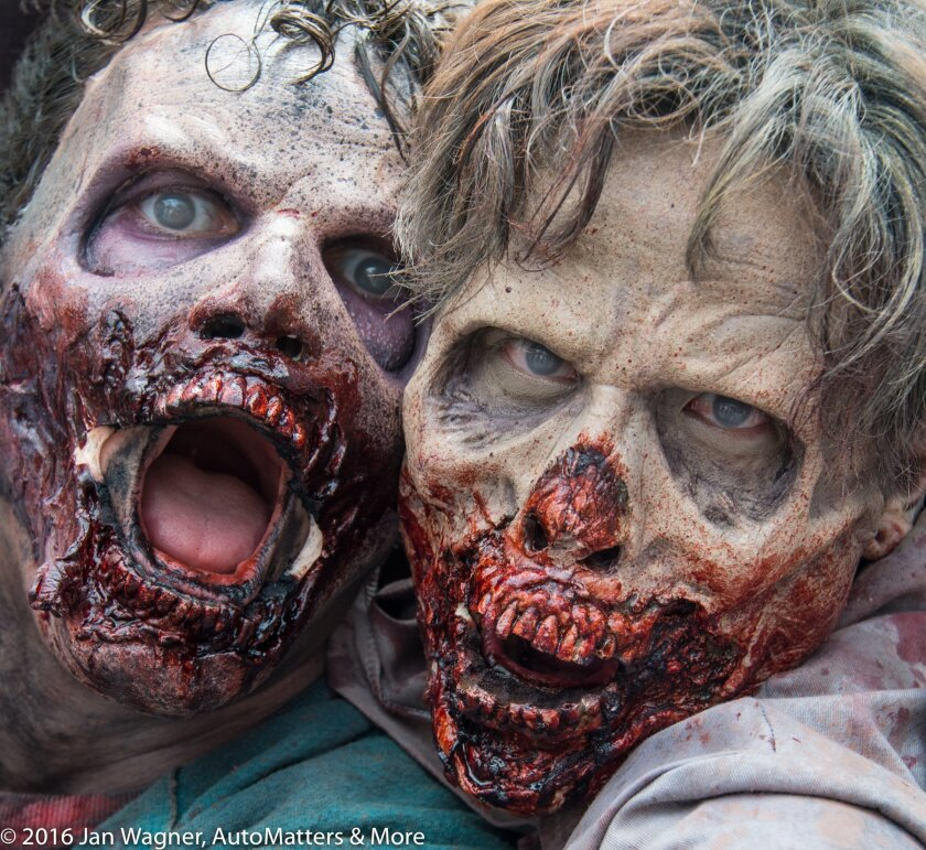 Frightening and authentic Walker prosthetics and makeup