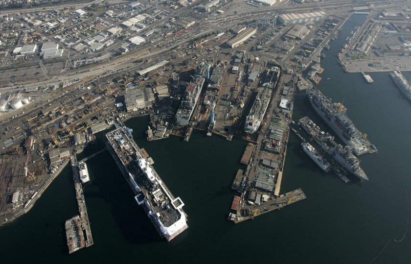 The General Dynamics NASSCO shipyard is one of several facilities supplied by companies located in adjacent Barrio Logan