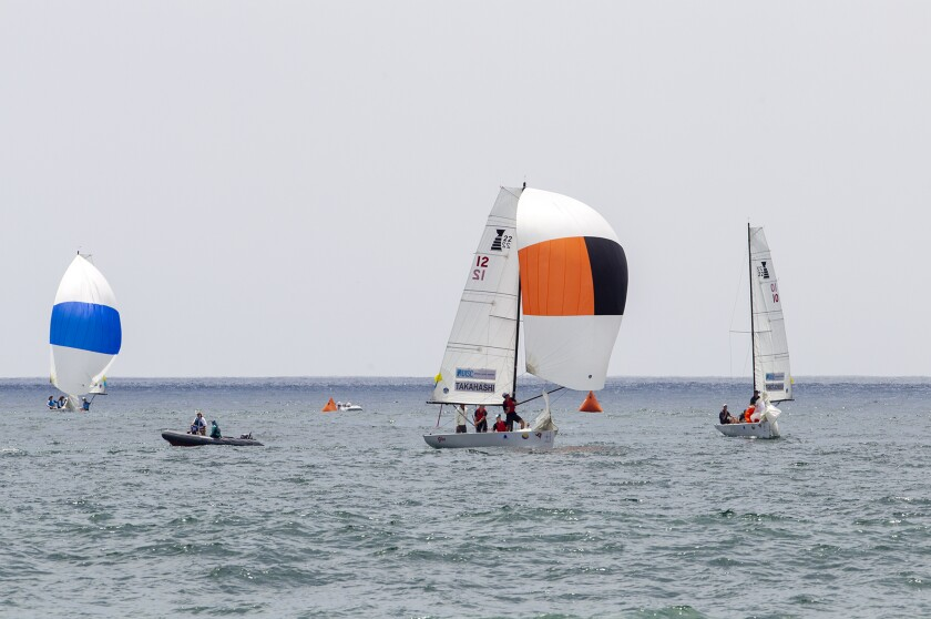 Leonard Takahashi, Finn Tapper lead fleet on first day of