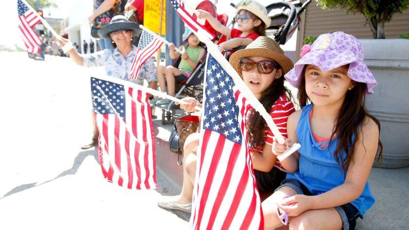 CANOGA PARK, CA., MAY 27, 2013: THE Canoga Park Memorial DAy Parade at annually draws 25,000 spect