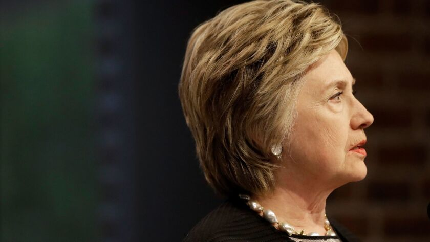 Former Democratic presidential candidate Hillary Clinton