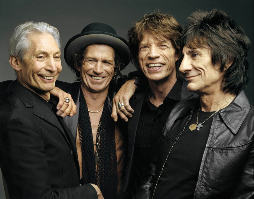 Rolling Stones members, from left, Charlie Watts, Keith Richards, Mick Jagger and Ron Wood will bring their 50 and Counting tour to the U.S. and United Kingdom in May and June.