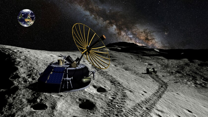 A rendering of Moon Express' MX-1 lunar lander, which the company hopes to launch next year.